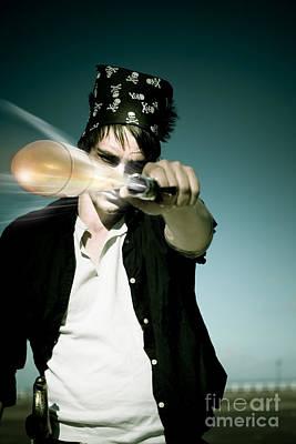 Pirate Shooing Gun Poster