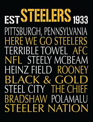 Pittsburgh Steelers Poster by Jaime Friedman