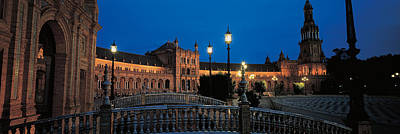 Plaza Espana Seville Andalucia Spain Poster by Panoramic Images