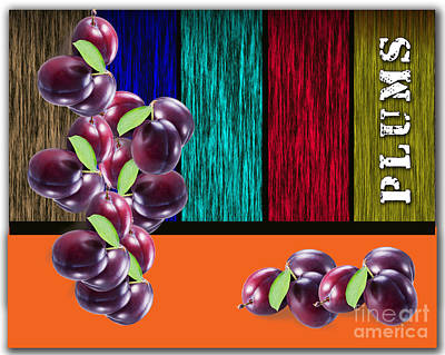 Plums Poster by Marvin Blaine