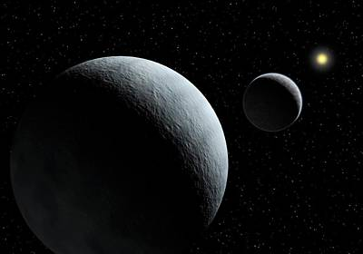 Pluto-charon System Poster