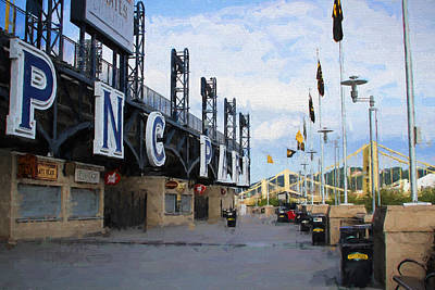 Pnc Park Riverwalk Painting Look Poster by Stephen Falavolito