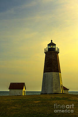 Point Judith Lighthouse Poster by Diane Diederich