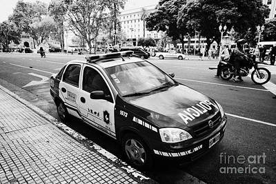 policia federal argentina federal police patrol vehicle Buenos Aires Argentina Poster by Joe Fox