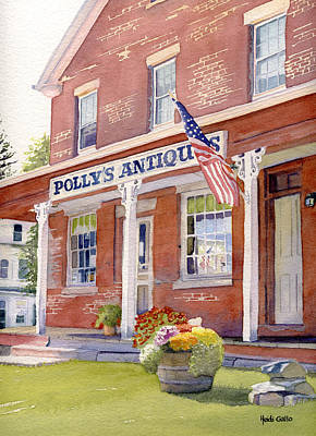 Polly's Antiques Poster