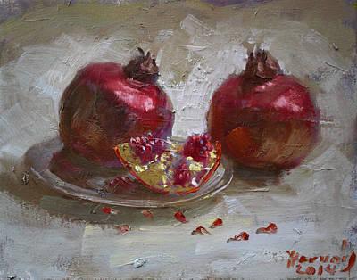 Pomegranates Poster by Ylli Haruni