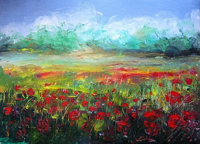 Poppy Fields Poster by Vesna Martinjak