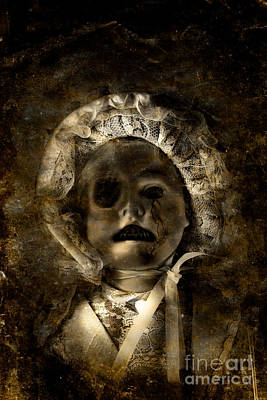 Porcelain Doll Crying Tears Of Cracks Poster by Jorgo Photography - Wall Art Gallery