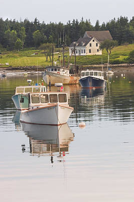 Port Clyde Maine Boats And Harbor Poster
