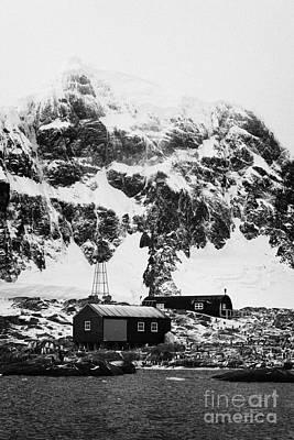 Port Lockroy British Antarctic Heritage Trust Station On Goudier Island With Luigi Peak In The Backg Poster by Joe Fox