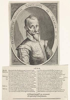 Portrait Francisco Hurtado De Mendoza, Jacob Matham Poster