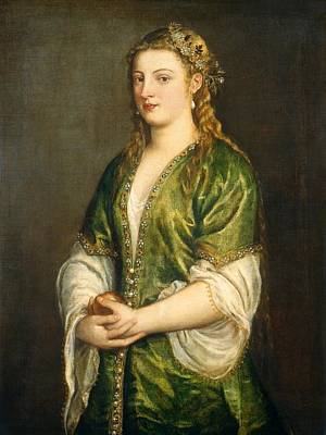 Portrait Of A Lady Poster by Titian