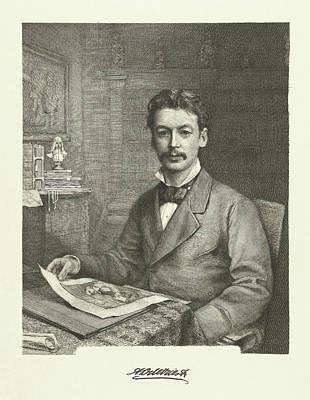 Portrait Of Adrian Daniel De Vries Abzn, Petrus Johannes Poster by Petrus Johannes Arendzen
