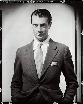 Portrait Of Gary Cooper Wearing A Suit Poster by Edward Steichen