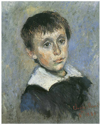 Portrait Of Jean Monet Poster by Claude Monet