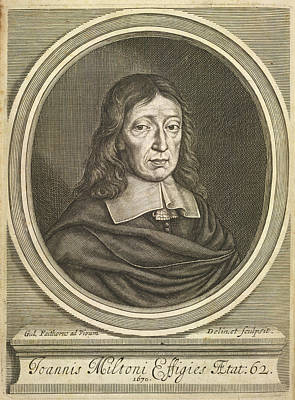Portrait Of John Milton. Poster by British Library