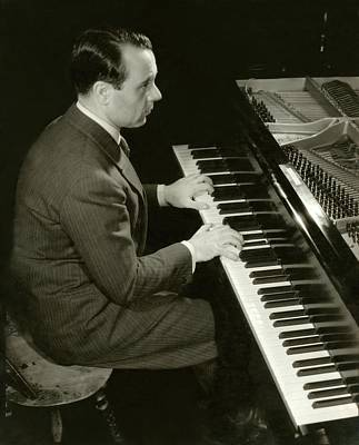 Portrait Of Jose Iturbi Sitting At His Piano Poster