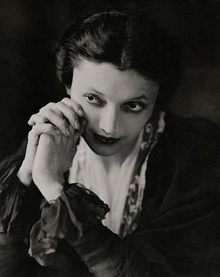 Portrait Of Katharine Cornell Poster by Edward Steichen
