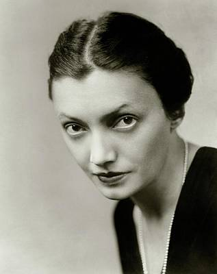 Portrait Of Katharine Cornell Poster by Florence Vandamm