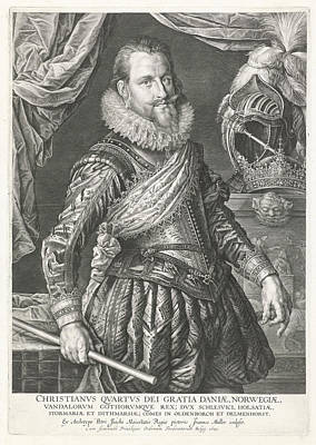 Portrait Of King Christian Iv Of Denmark And Norway Poster