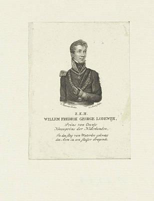 Portrait Of William II, King Of The Netherlands Poster by Willem Van Senus And Evert Maaskamp