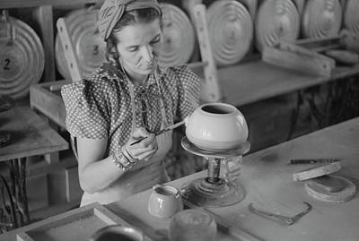 Pottery Making, 1940 Poster