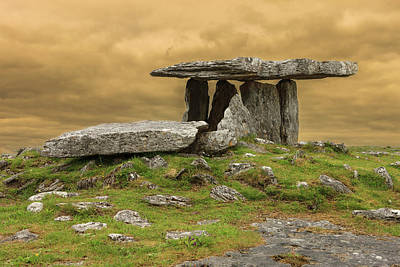 Poulnabrone Dolmen Poster by Tom Norring