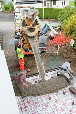 Pouring Concrete Poster