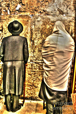 Poster featuring the photograph Praying At The Western Wall by Doc Braham