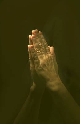 Praying Hands Poster by Bob Pardue