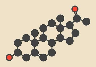 Pregnenolone Hormone Molecule Poster by Molekuul