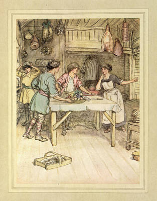 Preparing Food Poster by British Library