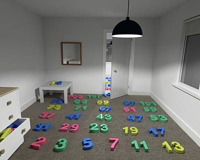 Prime Numbers Poster by Robert Brook