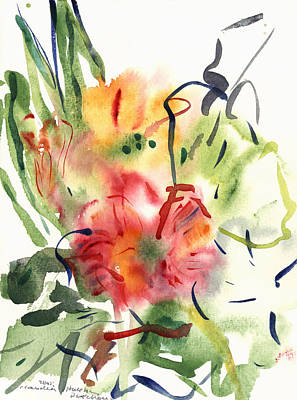 Primroses Poster by Claudia Hutchins-Puechavy