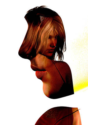 Profile Of A Woman Poster by David Ridley