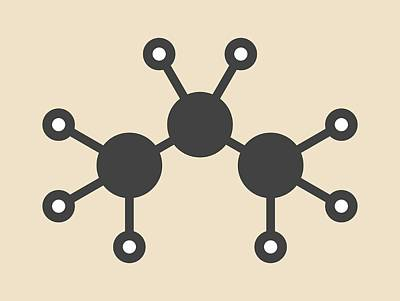 Propane Hydrocarbon Molecule Poster