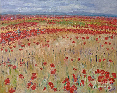 Provence Poppies Poster