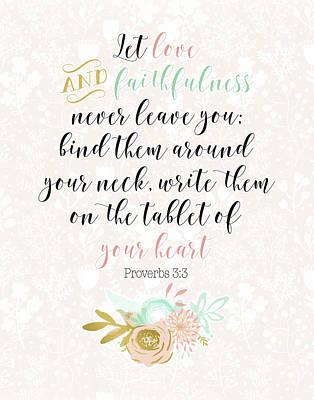 Proverbs 3-3 Poster by Tara Moss