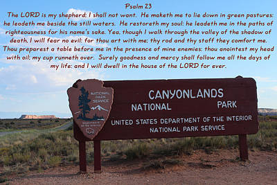Psalm 23 Canyonlands N P Poster by Nelson Skinner