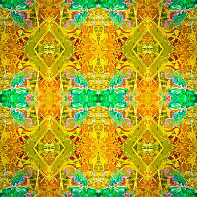 Poster featuring the photograph Psychedelic Diamond by  Onyonet  Photo Studios