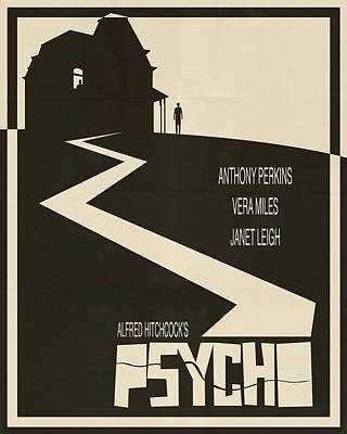 Psycho Movie Poster - Beige Poster