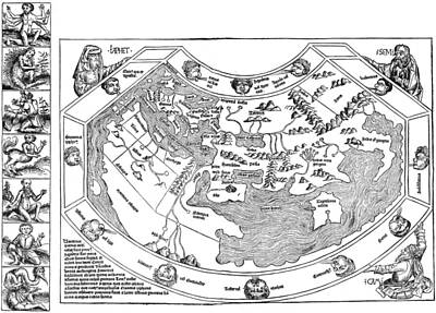 Ptolemaic World Map, 1493 Poster by Granger