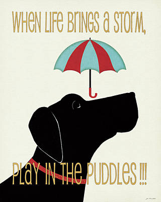 Puddles Poster by Jo Moulton