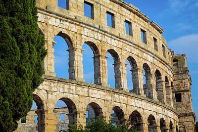 Pula, Istria County, Croatia. The Roman Poster