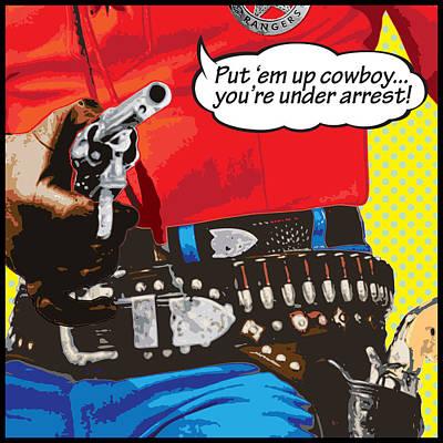 Put Em Up Poster by Gary Grayson
