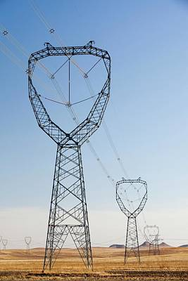 Pylons Poster by Ashley Cooper