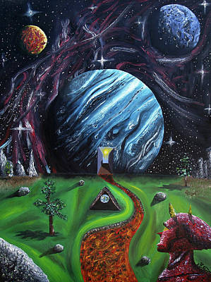 Poster featuring the painting Quantum Dementia by Ryan Demaree