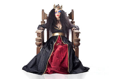 Queen With Gold Crown Poster by Jorgo Photography - Wall Art Gallery
