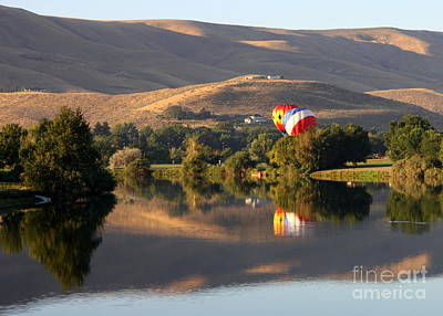 Quiet Morning Reflection In Prosser Poster by Carol Groenen