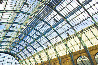 Railway Station Roof Poster by Tom Gowanlock